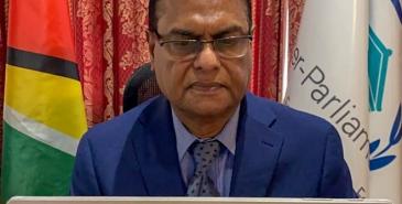 Speaker nadir at ipu briefing